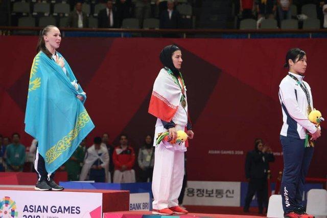 مدال برنز بازیهای آسیایی بر گردن پگاه زنگنه